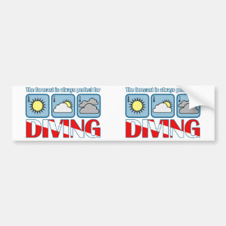 Forecast for Diving Bumper Sticker