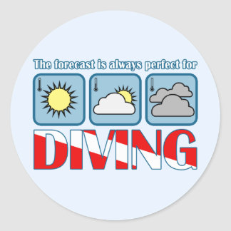 Forecast for Diving Classic Round Sticker
