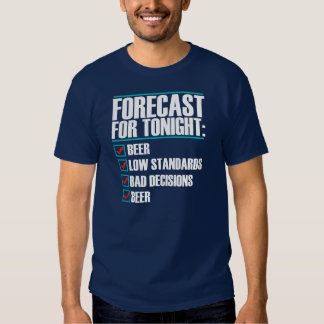Forecast for tonight Tee