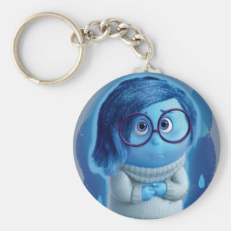 Forecast is for Blue Skies Basic Round Button Keychain