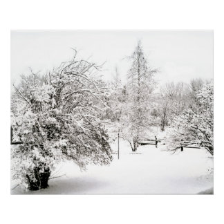 Forecast of Snow, fine art photograph Poster