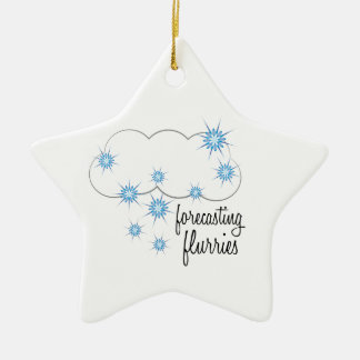 Forecasting Flurries Double-Sided Star Ceramic Christmas Ornament
