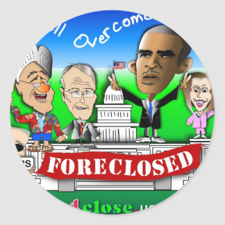 Foreclose United States House and Senate Classic Round Sticker