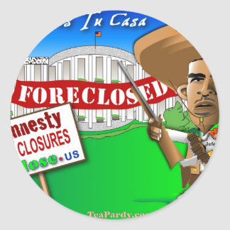 Foreclose United States White House Classic Round Sticker