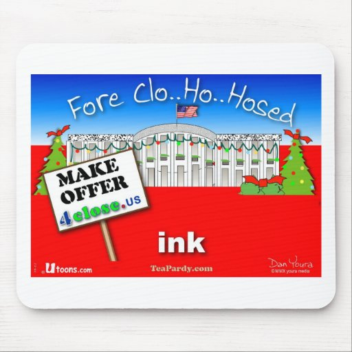 Foreclose United States White House Mouse Pad