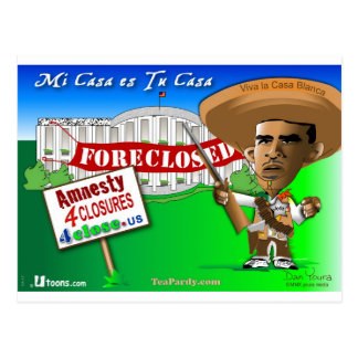 Foreclose United States White House Postcard