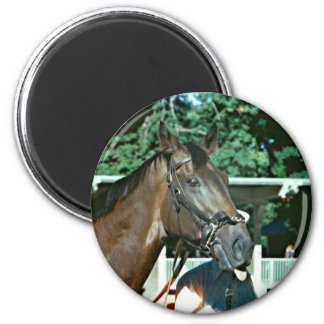 Forego Racehorse 1977 2 Inch Round Magnet