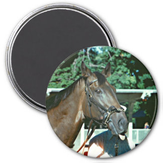 Forego Racehorse 1977 3 Inch Round Magnet
