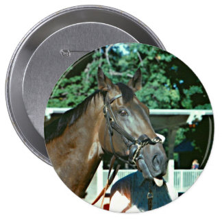 Forego Racehorse 1977 4 Inch Round Button