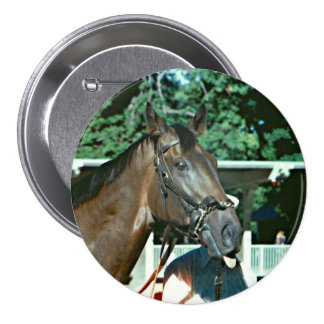 Forego Racehorse 1977 3 Inch Round Button