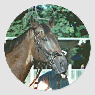Forego Racehorse 1977 Classic Round Sticker