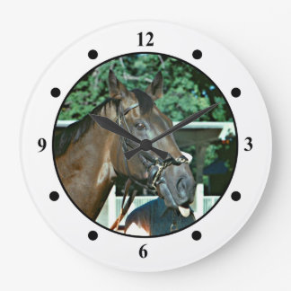 Forego Racehorse 1977 Large Clock