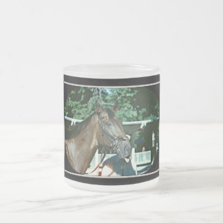 Forego Racehorse 1977 10 Oz Frosted Glass Coffee Mug