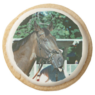 Forego Racehorse 1977 Round Shortbread Cookie