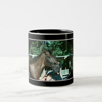 Forego Racehorse 1977 Two-Tone Coffee Mug