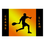 forehand Silhouette poster