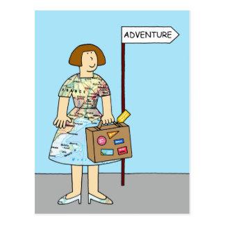 Foreign Adventure Bon Voyage Female. Postcard