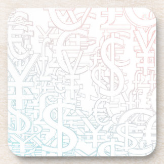 Foreign Currency Exchange Stock Market as Concept Drink Coaster