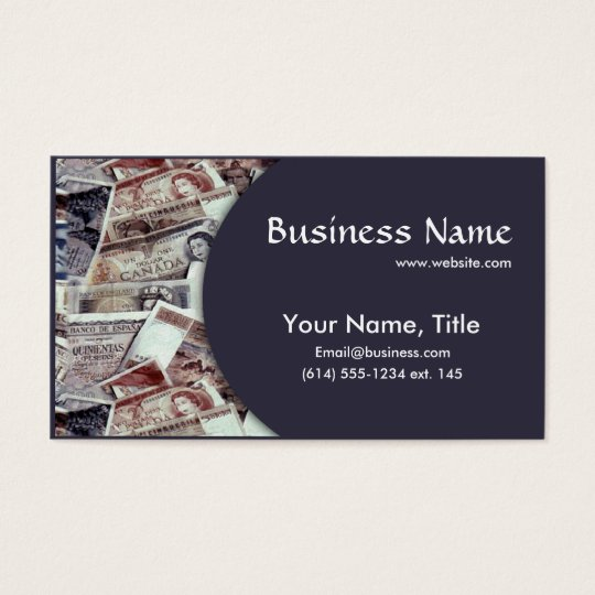 Foreign Currency Money Business Business Card