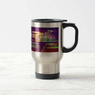 Foreign Currency Stainless Steel Travel Mug