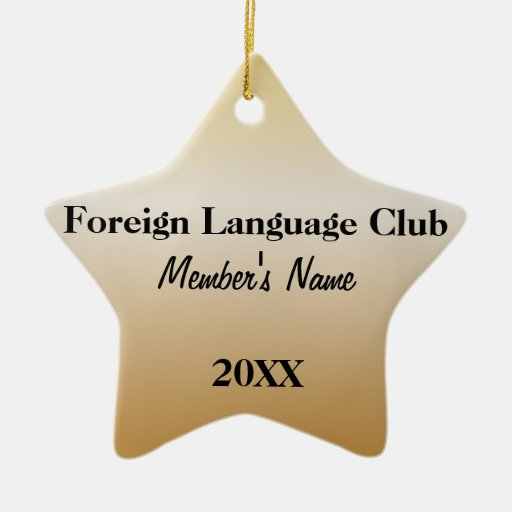 Foreign Language Club Ornaments
