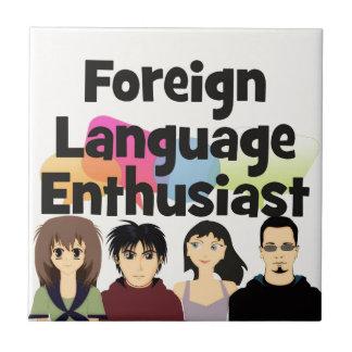 Foreign Language Enthusiast Ceramic Tile
