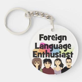Foreign Language Enthusiast Keychain