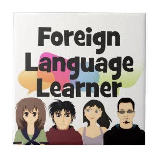 Foreign Language Learner Ceramic Tile