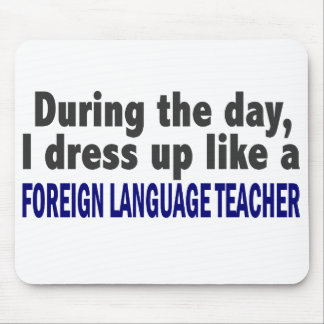 Foreign Language Teacher During The Day Mouse Pads