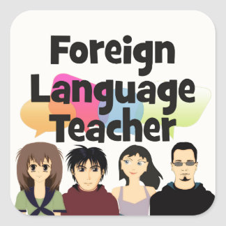 Foreign Language Teacher Square Sticker