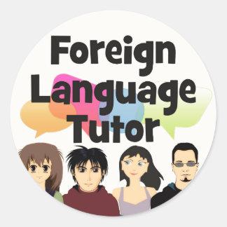 Foreign Language Tutor Classic Round Sticker