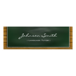 Foreign Language Tutor - Cool Blackboard Personal Double-Sided Mini Business Cards (Pack Of 20)