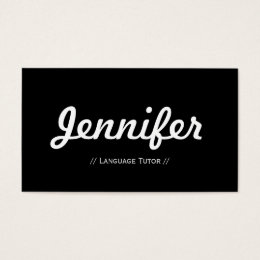 Foreign Language Tutor - Minimal Simple Concise Business Card