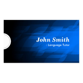 Foreign Language Tutor - Modern Dark Blue Double-Sided Standard Business Cards (Pack Of 100)