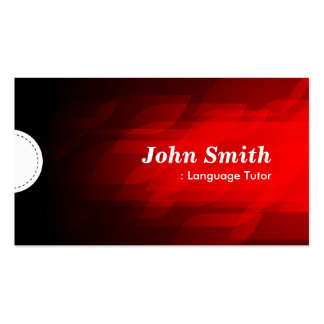 Foreign Language Tutor - Modern Dark Red Double-Sided Standard Business Cards (Pack Of 100)