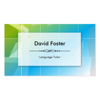 Foreign Language Tutor - Modern Elegant Simple Double-Sided Standard Business Cards (Pack Of 100)