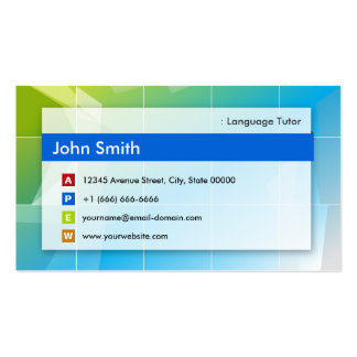 Foreign Language Tutor - Modern Multipurpose Double-Sided Standard Business Cards (Pack Of 100)