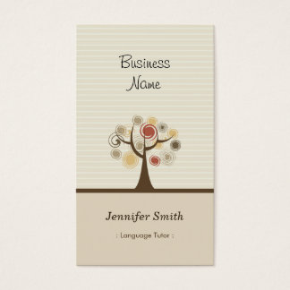 Foreign Language Tutor - Stylish Natural Theme Business Card
