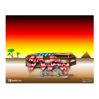 Foreign Policy Casket Postcard