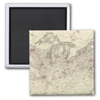 Foreign Population 1870 2 Inch Square Magnet