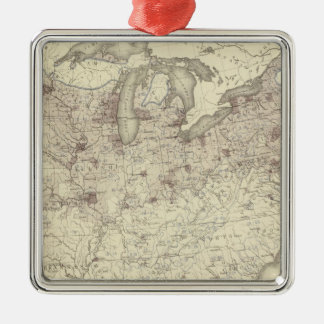 Foreign Population 1870 Metal Ornament