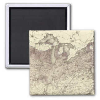 Foreign Population Proportion 1870 2 Inch Square Magnet