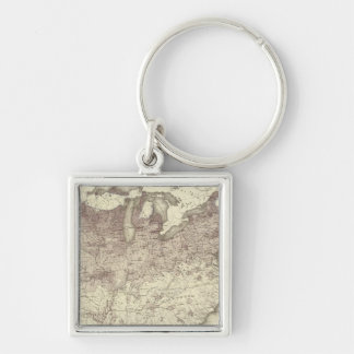 Foreign Population Proportion 1870 Keychain
