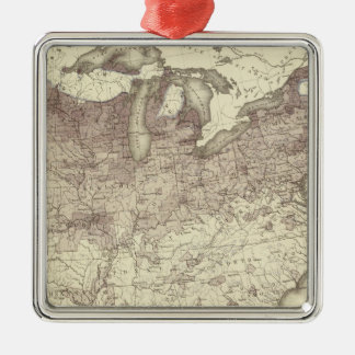 Foreign Population Proportion 1870 Metal Ornament