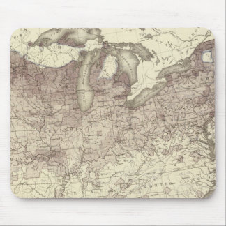 Foreign Population Proportion 1870 Mouse Pad