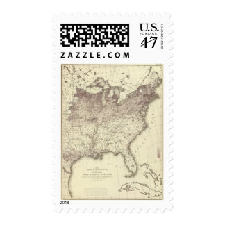 Foreign Population Proportion 1870 Postage Stamp