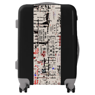 Foreign Torn Peeled Billboard Wall Luggage