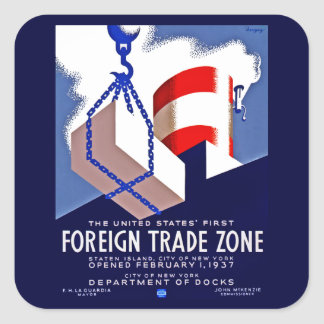 Foreign Trade Zone Square Sticker