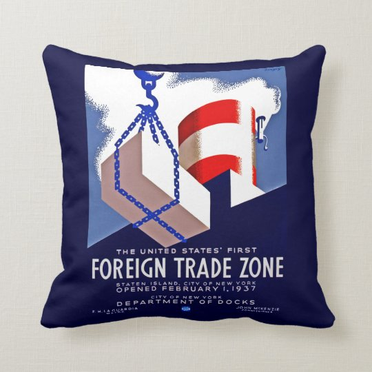 Foreign Trade Zone Throw Pillow
