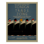 Foreign Trade Zone Vintage Poster